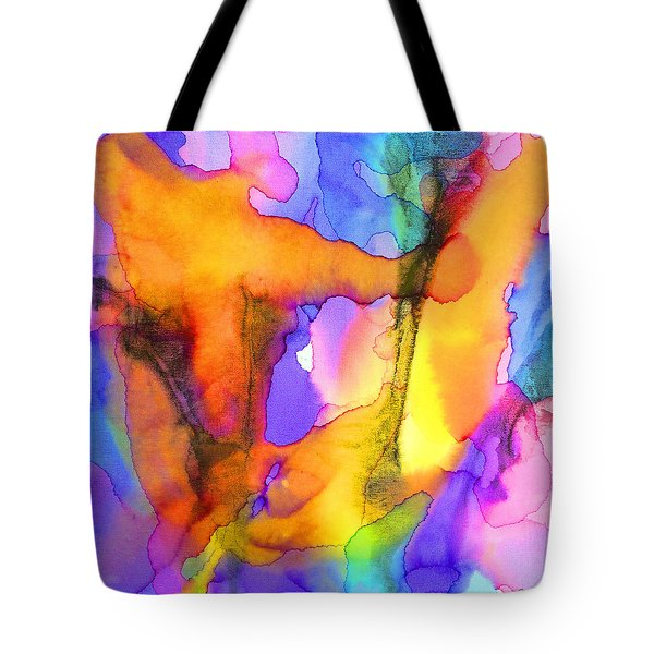 1 Art Abstract Painting Modern Color Signed Robert R Erod Tote Bag