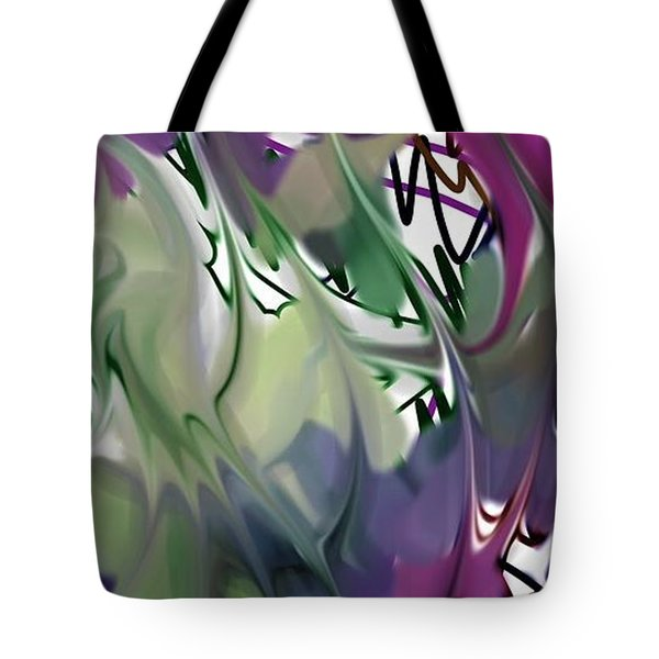 Tote Bag featuring the digital art Art Abstract by Sheila Mcdonald