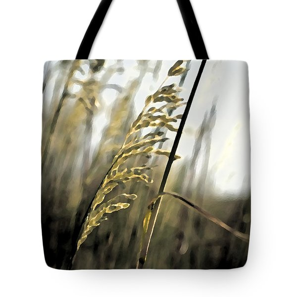 Tote Bag featuring the photograph Artistic Grass - Pla377 by G L Sarti