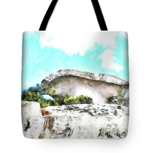 Arzachena Mushroom Rock Tote Bag