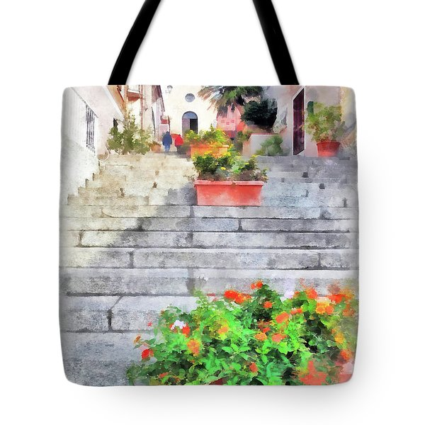 Arzachena Staircase And Church Of The Santa Lucia Tote Bag