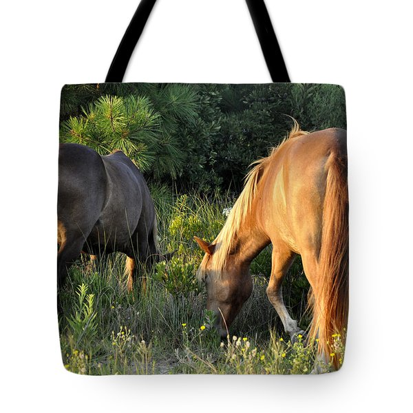 Asateague Horses 6 Tote Bag