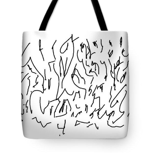 Asemic Writing 01 Tote Bag