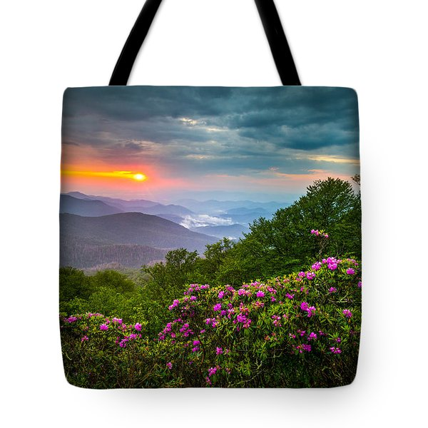 Asheville North Carolina Blue Ridge Parkway Scenic Landscape Tote Bag