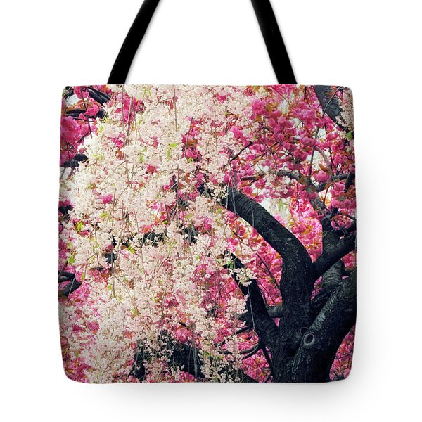 Asian Cherry Vignette Tote Bag by Jessica Jenney