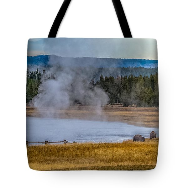 Tote Bag featuring the photograph At Dawn by Yeates Photography