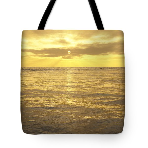 Tote Bag featuring the digital art Ocean View by Mark Greenberg