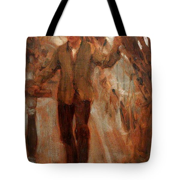 Tote Bag featuring the painting At The Break Of The Poop  by Henry Scott Tuke