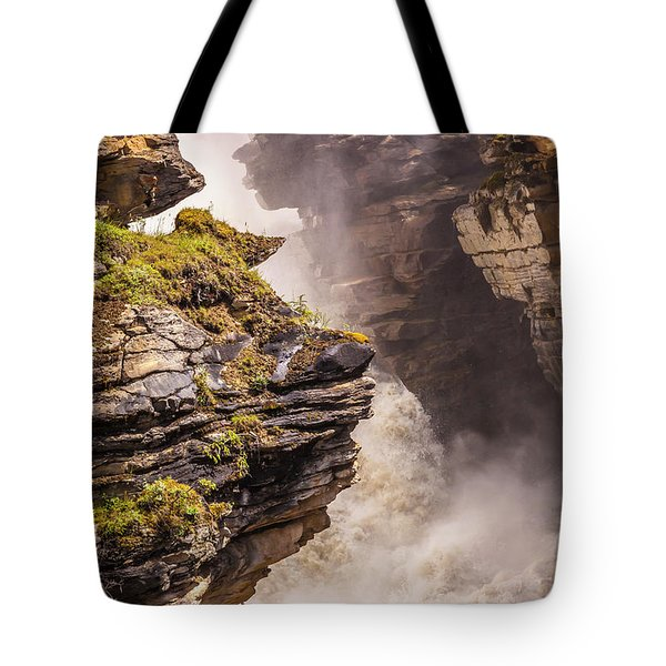 Tote Bag featuring the photograph Athabasca Falls by Mark Mille