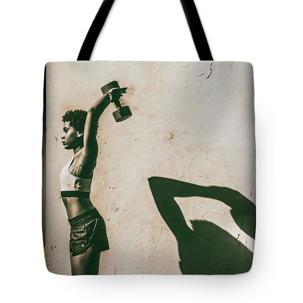 Athletic Woman Tote Bag