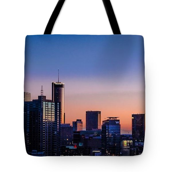 Atlanta Sunset Tote Bag
