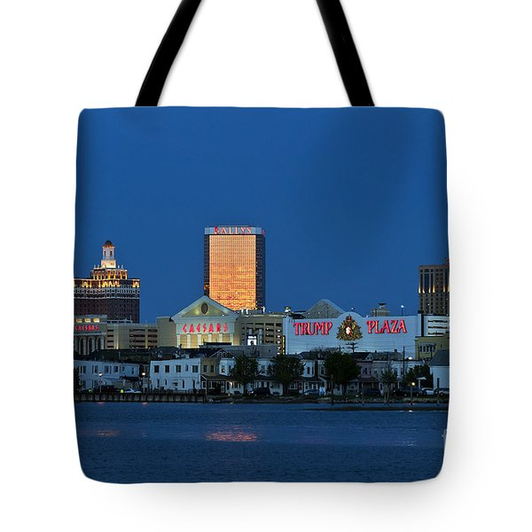 Atlantic City Skyline Tote Bag by John Greim