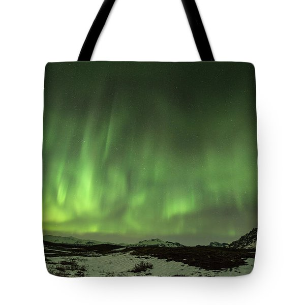 Aurora Borealis Or Northern Lights. Tote Bag