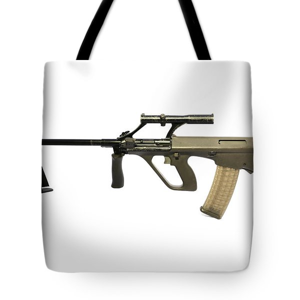 Austrian 5.56mm Steyr Aug Light Support Tote Bag by Andrew Chittock