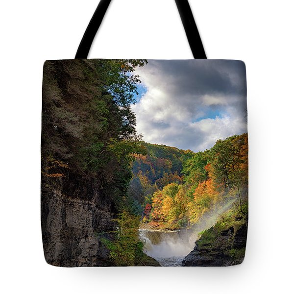 Autumn At The Lower Falls II Tote Bag
