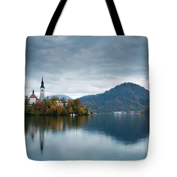 Autumn Colours At Lake Bled Tote Bag