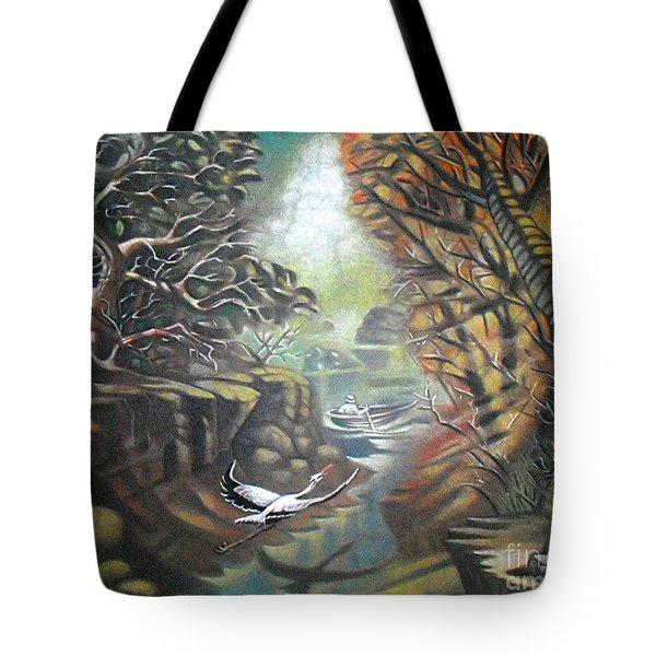 Autumn Flight Tote Bag