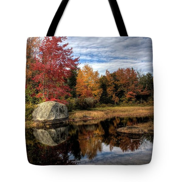 Tote Bag featuring the photograph Autumn In Maine by Greg DeBeck