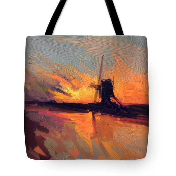 Autumn Indian Summer Windmill Holland Tote Bag by Nop Briex