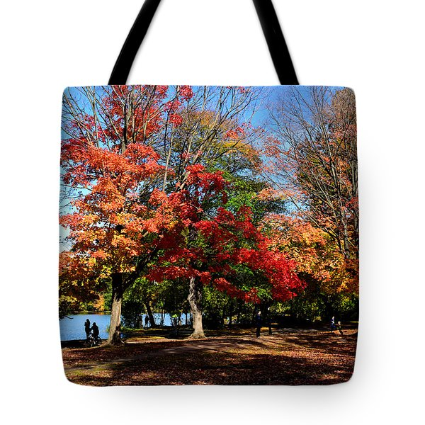 Autumn Leaves In Prospect Park Tote Bag