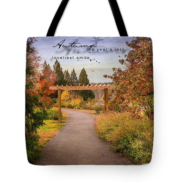 Tote Bag featuring the photograph Autumn by Mary Timman