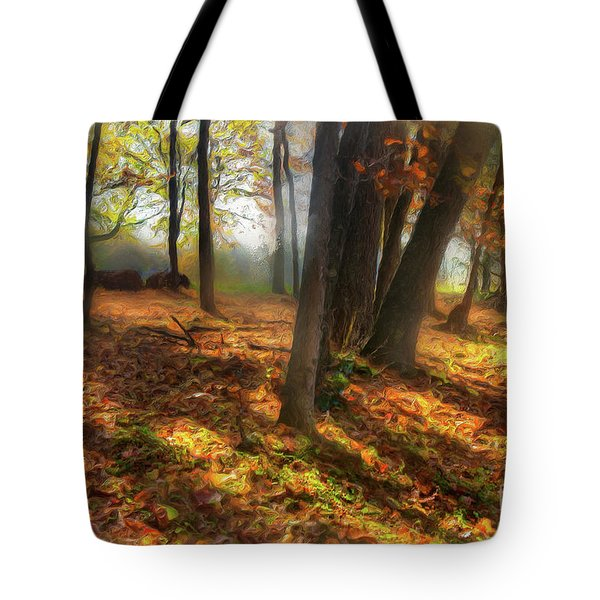 Autumn Shadows In The Blue Ridge Ap Tote Bag