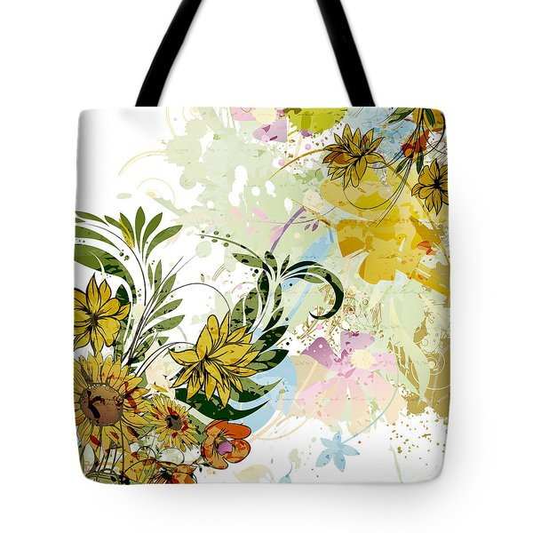 Autumn Sunflower Digital Illustration Tote Bag by Heinz G Mielke