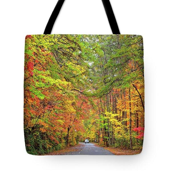 Autumn Travel Tote Bag