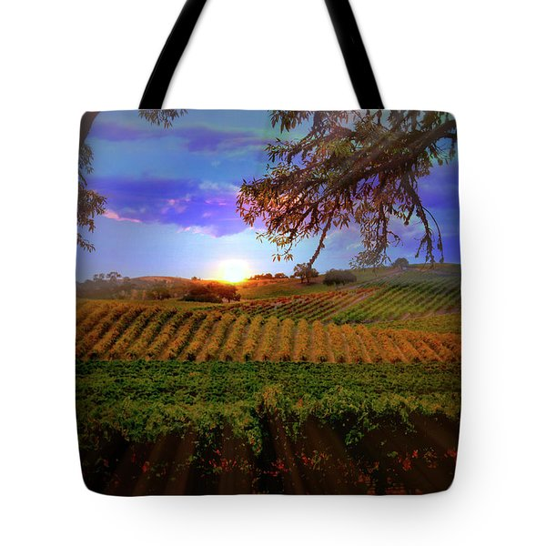 Autumn Vineyard Tote Bag by Stephanie Laird