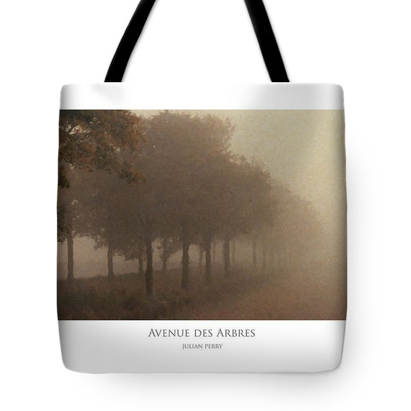 Tote Bag featuring the digital art Avenue Des Arbres by Julian Perry