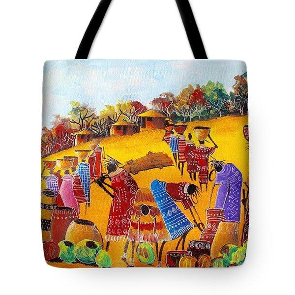 Dear Mum Tote bag Original painting print by Nkusi Kenneth African art