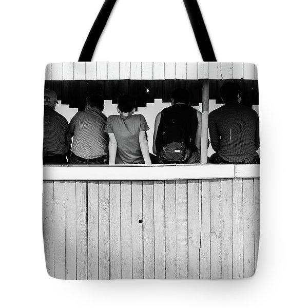 Tote Bag featuring the photograph Back To Backs by John Williams