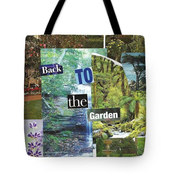 Back To The Garden Tote Bag