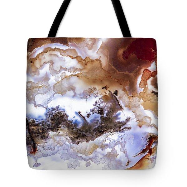 Backlit Agate Tote Bag
