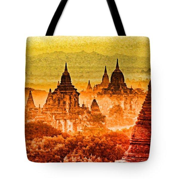 Bagan Pagodas Tote Bag by Dennis Cox WorldViews