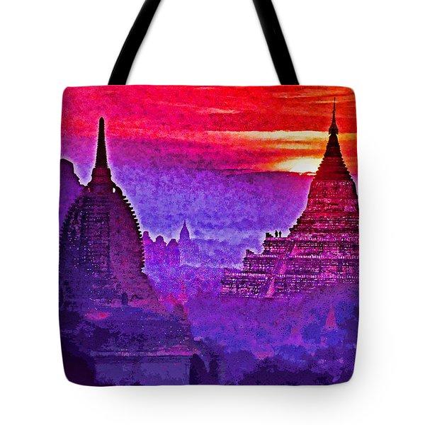 Bagan Sunrise Tote Bag by Dennis Cox WorldViews