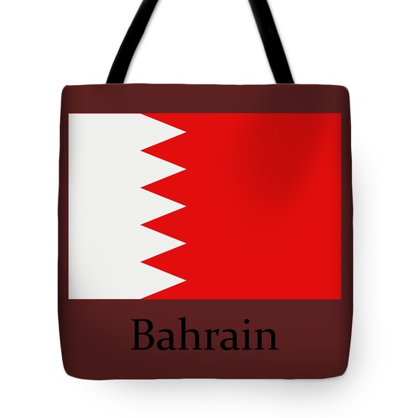 Bahrain Flag Tote Bag
