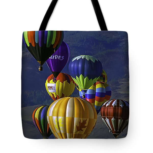 Balloons Over Reno Tote Bag by Dorothy Cunningham