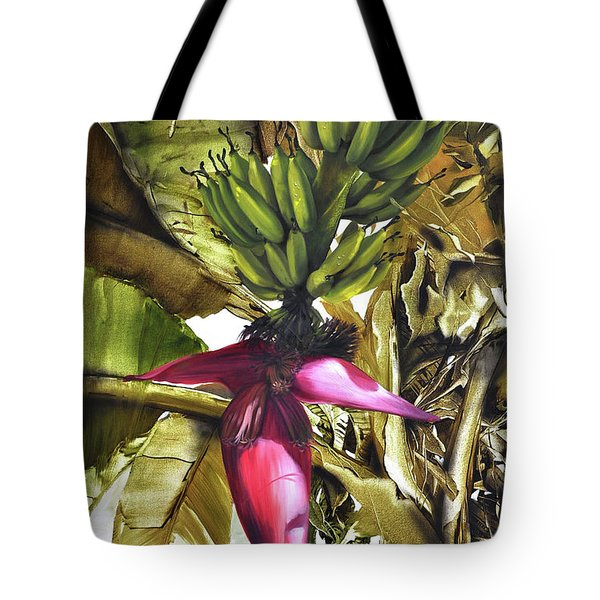Tote Bag featuring the painting Banana Tree by Chonkhet Phanwichien