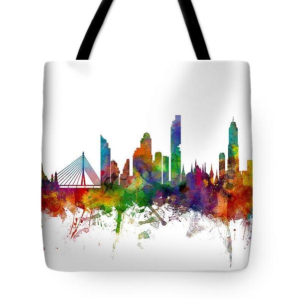 Bangkok Thailand Skyline Tote Bag