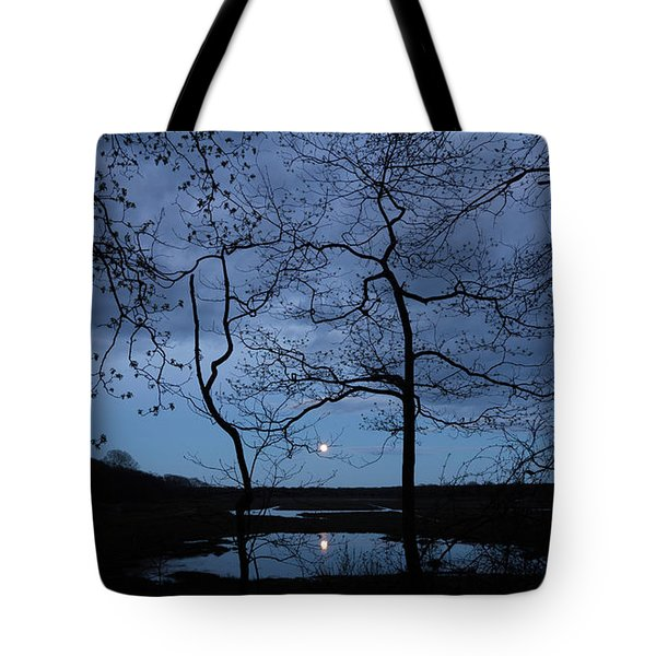 Barn Island Moonrise Tote Bag
