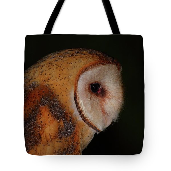 Barn Owl Profile Tote Bag