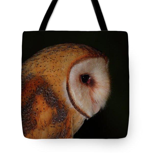 Barn Owl Profile Tote Bag