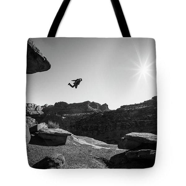 Base Jumper Tote Bag