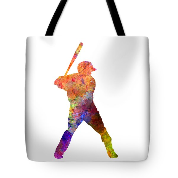 Baseball Player Waiting For A Ball Tote Bag by Pablo Romero