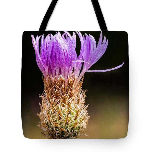 Basket-flower Opening Tote Bag