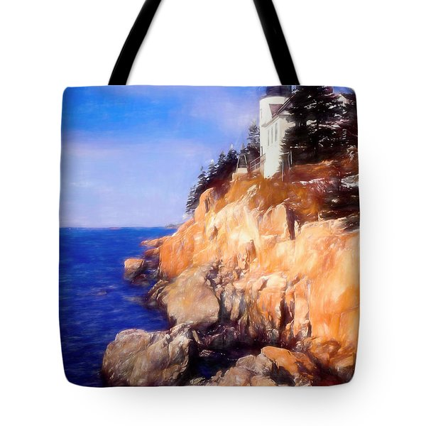 Bass Harbor Lighthouse,acadia Nat. Park Maine. Tote Bag