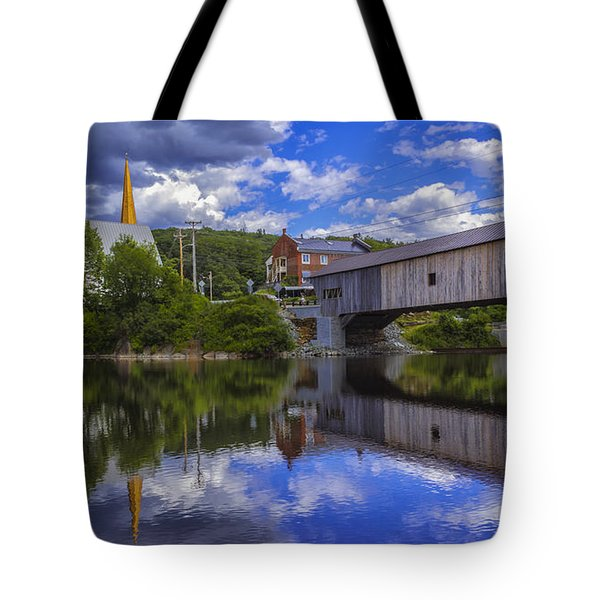 Bath Covered Bridge. Tote Bag