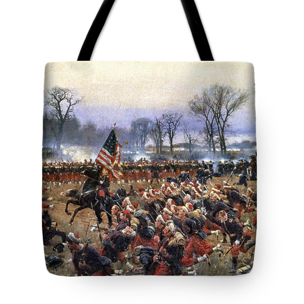 Tote Bag featuring the painting Battle Of Fredericksburg - To License For Professional Use Visit Granger.com by Granger