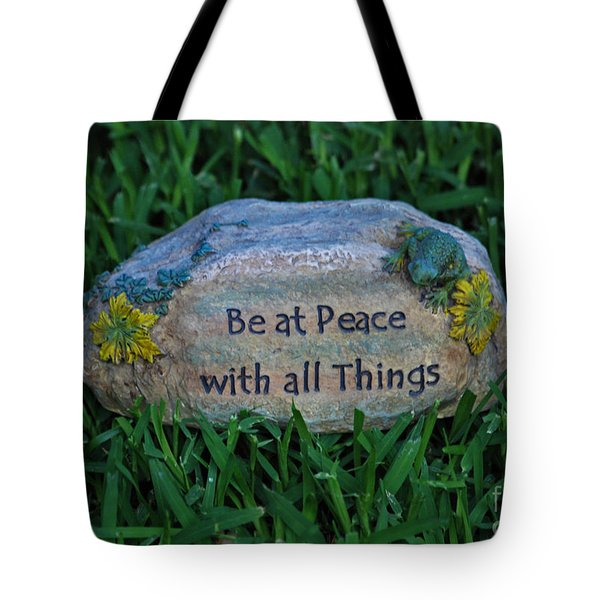 Tote Bag featuring the photograph 1- Be At Peace by Joseph Keane